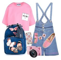 Pretty in Pink by shinnanda on Polyvore featuring polyvore fashion style Moschino Valentino Versace Chanel women's clothing women's fashion women female woman misses juniors