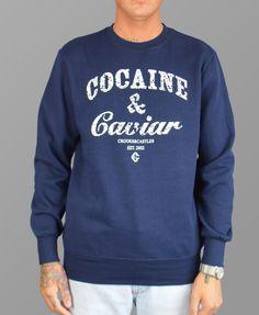 Crooks & Castles Navy Cocaine & Caviar Paisley Sweatshirt #Crooks