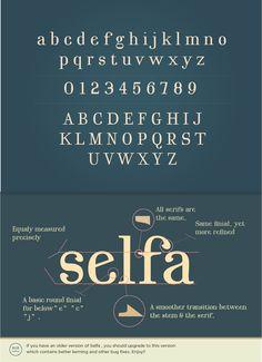 Selfa - A Free Serif Font by Mazefall