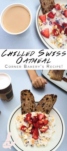 Yum! The Chilled Swiss Oatmeal from Corner Bakery is my fave! It's a great way to start off your mornings! This refrigerator oatmeal recipe is easy to make and full of delicious fresh fruit. Make a batch at the beginning of the week and eat it for breakfast all week long!