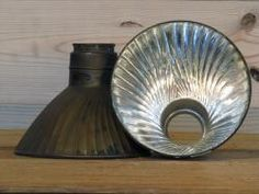 Vintage X-ray Light Shades : Mercury glass and old copper, darling.