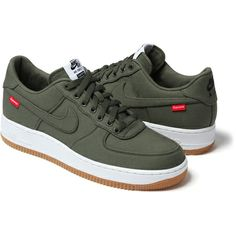 Supreme/Nike AF1 Olive- I love NIKE sneakers!!!!!!!!! Especially these olive green ones!