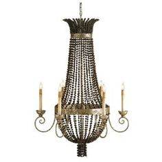 Check out the Currey and Company 9686 Destination 6 Light Chandelier with Distressed Silver Leaf
