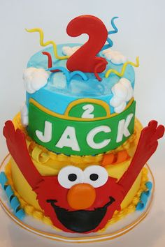 Making this cake for my little man's 2nd birthday!