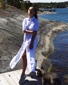 Känner mig såå sommarfin i min klänning från GANT - hitta mina och Marcus favoriter på