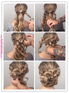 65 Womens Easy Hairstyles ideas and DIY Steps. 65 Womens Easy Hairstyles ideas and DIY Steps. Prom Hairstyles For Long Hair, Pretty Hairstyles, Braided Hairstyles, Wedding Hairstyles, Simple Hairstyles, Hairstyle Ideas, Amazing Hairstyles, Hairdos, Hair Ideas