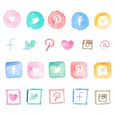Download these free social media icons to add the perfect artsy feel to your blog.  With step-by-step instructions on how to instal them.