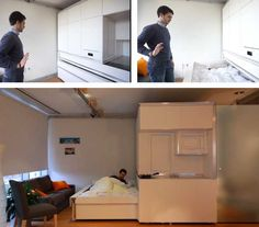 Sliding Walls and Gesture Operated Furniture (video) | http://www.godownsize.com/mit-apartment-with-sliding-walls-and-gesture-operated-furniture/