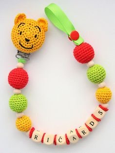 Dummy holder  personalized pacifier clip with Winnie the