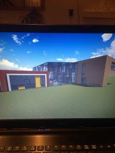 Schoolgebouw voor project van school