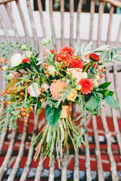 Rich red bouquet: http://www.stylemepretty.com/2015/04/28/indian-fusion-wedding-in-hollister/ | Photography: Onelove - http://www.onelove-photo.com/