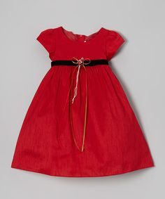 Another great find on #zulily! Red Rose Cap-Sleeve Dress - Infant & Toddler #zulilyfinds