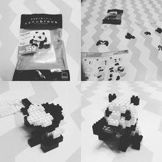 #giantpanda#panda#pandaaddict#blackandwhite#wwf#lego#nanoblock#game#geek#kawada#nbc_159#block