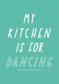dancing and cooking go hand in hand