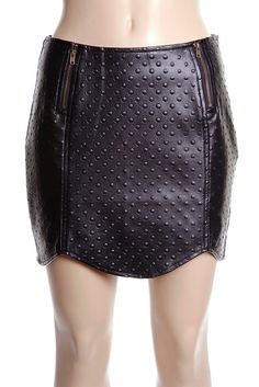 """Black Leather Dots- wish this was about 24"""" longer!"""