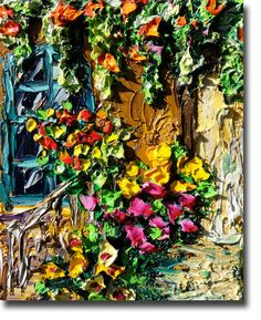 New Orleans Painting Palette Knife Oil Painting by bsasik on Etsy