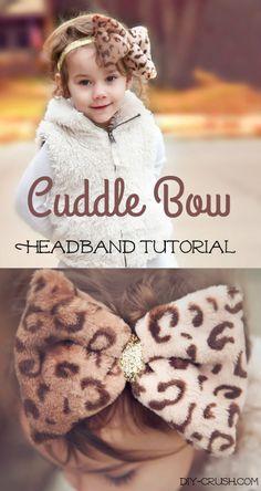 Cuddle Bow Headband Tutorial. With glitter elastic band.  DIY Crush