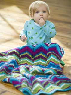 High Tide Baby Knitted Blanket pattern by Debbie Stoller (http://www.stitchnationyarn.com/Patterns/free-pattern-high-tide-baby-blanket.html)