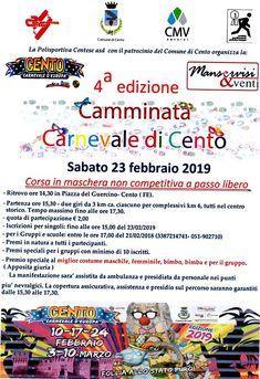 Camminata Carnevale di Cento 2019 - 4a edizione si svolgerà il giorno 23/02/2019 a Cento (Fe) sulla distanza di 7Km. #corriqui Words, Horse