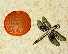 And then there are these gorgeous pendants! The orange on is a pearlized vintage pendant, orange has always been difficult for me to work with, so it is a nice challenge for me. The  dragon fly is actually one I have eyed myself before so I am thrilled to have it, it should be easy for me to use - I guess we shall see what I come up with! Thank you Jackie! Challenge, Soup, Dragon, Pendants, Orange, Beads, Nice, Party, Blog