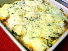 No pasta lasagna! My favorite vegetarian/low carb recipe.