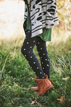 Buttery soft, black and white, polka dot leggings. No one does leggings quite like Lularoe.