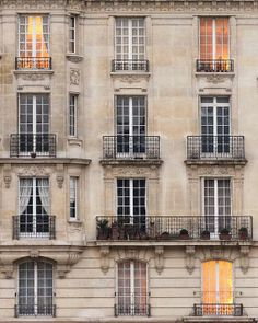 "Paris Photography, ""Ile Saint Louis Balconies"""