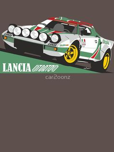 'Lancia Stratos HF Alitalia livery' T-Shirt by - My best classic car list Cool Sports Cars, Sport Cars, Cool Cars, Race Cars, Jdm, Automobile, Car Racer, Volkswagen Polo, Car Illustration