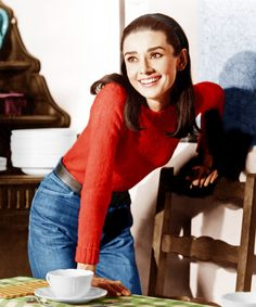 Audrey Hepburn - No one made straight-leg, no-fuss Wranglers look more adorably enticing than Audrey Hepburn, who added a cherry-red sweater and headband to hers.