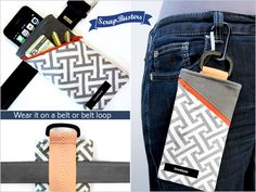 ScrapBusters: Clip on or Slip on Belt Pouch | Sew4Home | Bloglovin'