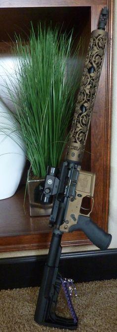www.OffHandGear.com - New Fleur D' Lis hand guard available Rifles, Ar 15 Builds, Ar Build, Custom Guns, Cool Guns, Guns And Ammo, Shotgun, Archery, Airsoft