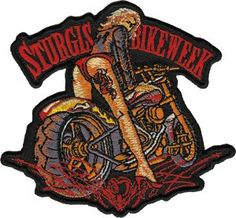 Sturgis Official Bike Week Babe Embroidered Iron On Biker Patch str11