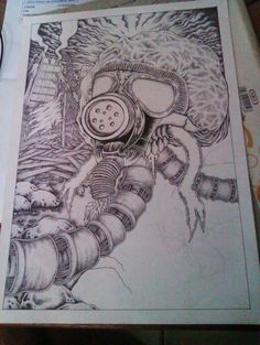 drawing pen at A4 paper  in process...