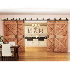 Barn Door Hardware | Double barn door hardware - Rustic Rolling Doors Bypass Barn Door Hardware, Double Barn Doors, Door Kits, Installation Manual, Door Stopper, Sliding Doors, Door Hinges, Home Decor Furniture, Rustic