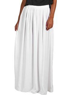 BCBGMAXAZRIA | Sophia Maxi Skirt ($178.00) #Coveted #WhiteMaxiSkirt #BCBG