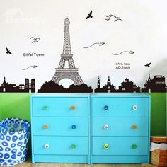 New Arrival Gorgeous Eiffel Tower Wall Stickers