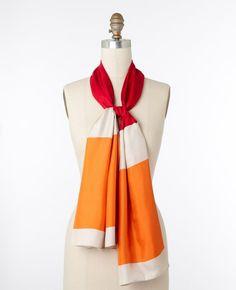 Ann Taylor - Color Block Silk Scarf