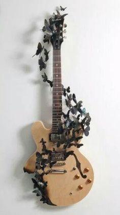 #guitar #butterfly #art