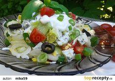 Barevný salát recept - TopRecepty.cz Cobb Salad, Food, Diet, Essen, Meals, Yemek, Eten