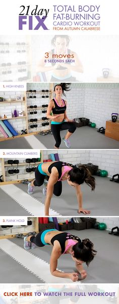 We're obsessed with this Total Body Fat Burning Cardio Workout from Autumn Calabrese! // 21 Day Fix // 21 Day Fix Extreme // fitness // fitspo // workout // motivation // exercise // Inspiration // fitfam //fixfam // fit // cardio //