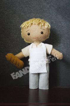 Bakery Peeta - Hunger Games Collectible Felt Doll via Etsy
