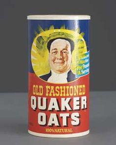 Zhang Hongtu Long Live Chairman Mao Series #29  1989  Acrylic and quaker oats box  24.4 x 12.7 x 12.7 cm