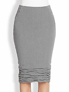 Donna Karan - Crushed-Hem Pencil Skirt