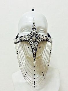 House Of Malakai Couture Headdress House Of Malakai Couture Headdress Arte Fashion, Fashion Mask, Fashion Design, Face Jewellery, High Fashion Makeup, Cool Masks, Head Accessories, Wedding Art, Character Outfits