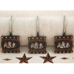 Western Horses Shower Curtain Hooks