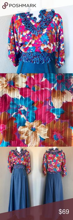 Spotted while shopping on Poshmark: NWT '80s Vintage Assorti Floral Boho Blouse XS! #poshmark #fashion #shopping #style #Vintage #Tops