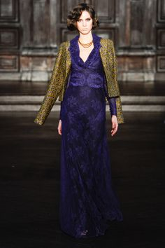 L'Wren Scott. Fall 2012.  Really pretty line to the dress...and I like the design on the fabric.