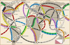 Ticket to Ride Map Design Contest: Here, There and Everywhere Printable Tickets, Printable Board Games, Printable Maps, World Ticket, Board Game Template, Create A Map, Ticket To Ride, Lego Trains, Map Design