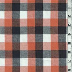 Orange/Black Buffalo Plaid Shirting - Lex