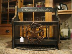 magazine holder only $33.92 at Primitive Country Treasures on Facebook. This would be perfect for my bathroom.